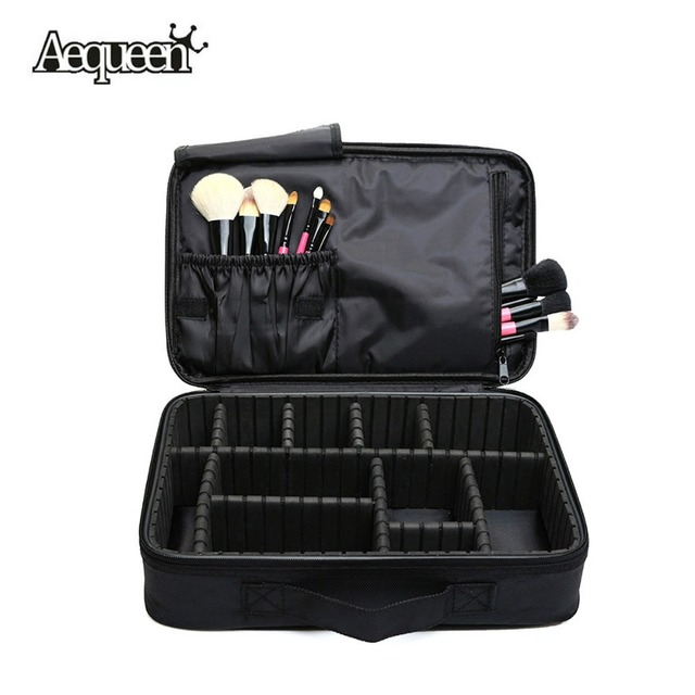 2017 New Makeup Brush Bag Case Make Up Organizer Toiletry Bag Storage Cosmetic Bag Large Nail Art Tool Boxes With Portable Bolso