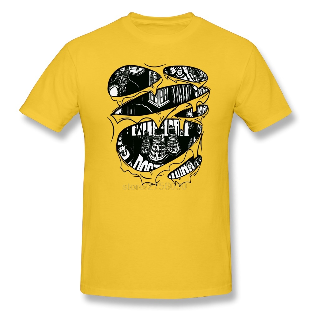 Design t shirt for cheap - Short Sleeve New Arrival Doctor Who Torn Design Men S T Shirt Cheap Sale 100
