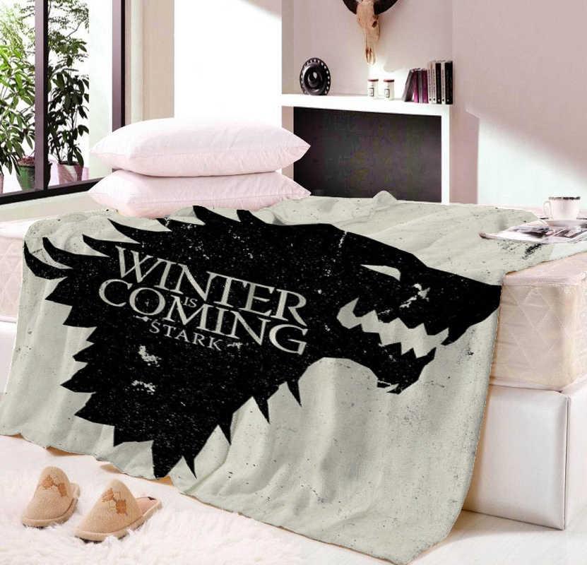 Custom Of Thrones Blanket Manta Falafel Sofa Bed Plane Travel Bedding 150x200cm