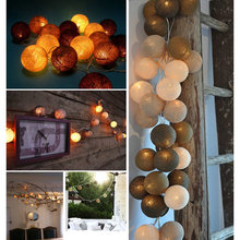 Aladin 20LEDs Cotton Ball Romantic Fairy String Light Lantern Coffee Atmosphere Lights Xmas Party Tree Decor Decoration(China)