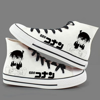 2017 Hot Selling New Detective Conan Cos Printed Canvas Shoes For Men And Women High School