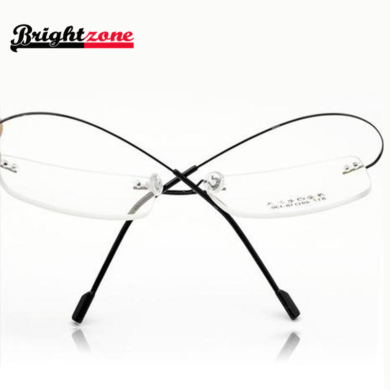 Rimless Glasses At Vision Express : Ultra light 9 colors fashion rimless glasses frames memory ...