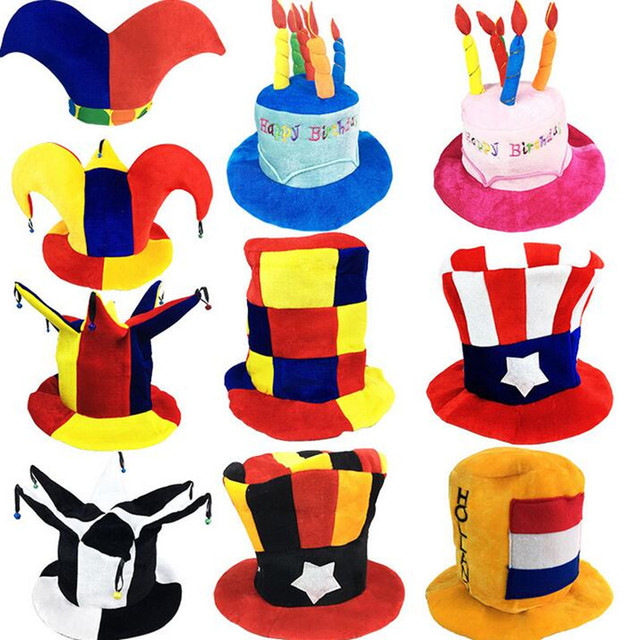 Kids Adults Carnival Party Hats Clown Football Beer Caps Performance Props Costume Accessories Purim