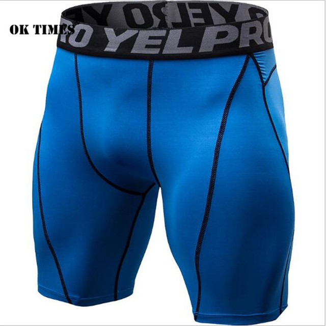 1054 Men Boys High Elasticity Yoga  Athletic Running Sports Gym Compression Tights Sweat Wicking Quick Dry Shorts  EU XS~XXL
