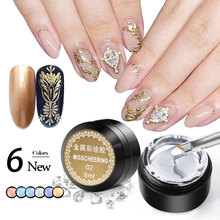 8ML Pulling Wire Painting Gel Nail Polish Metallic 3D Emboss