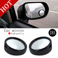 2pcs/lot Push Rearview View Convex Mirror Wide Angle Sector Adjustable Auto Car Blind Spot Mirror Black Free Shipping