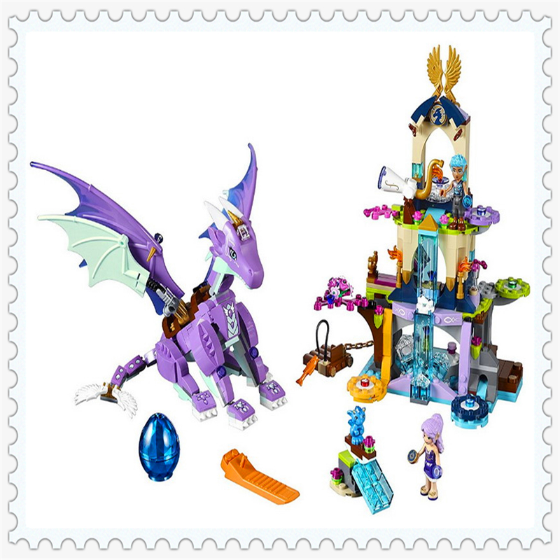 BELA 10549 Elves Series The Dragon Sanctuary Building Block 591Pcs DIY Educational  Toys For Children Compatible Legoe chris wormell george and the dragon
