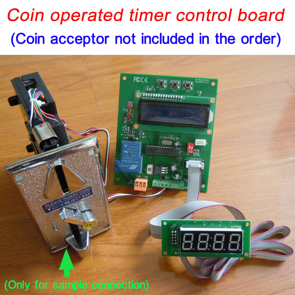 цена на Coin operated timer control board (can connnect both the pulse coin acceptor and bill acceptor )