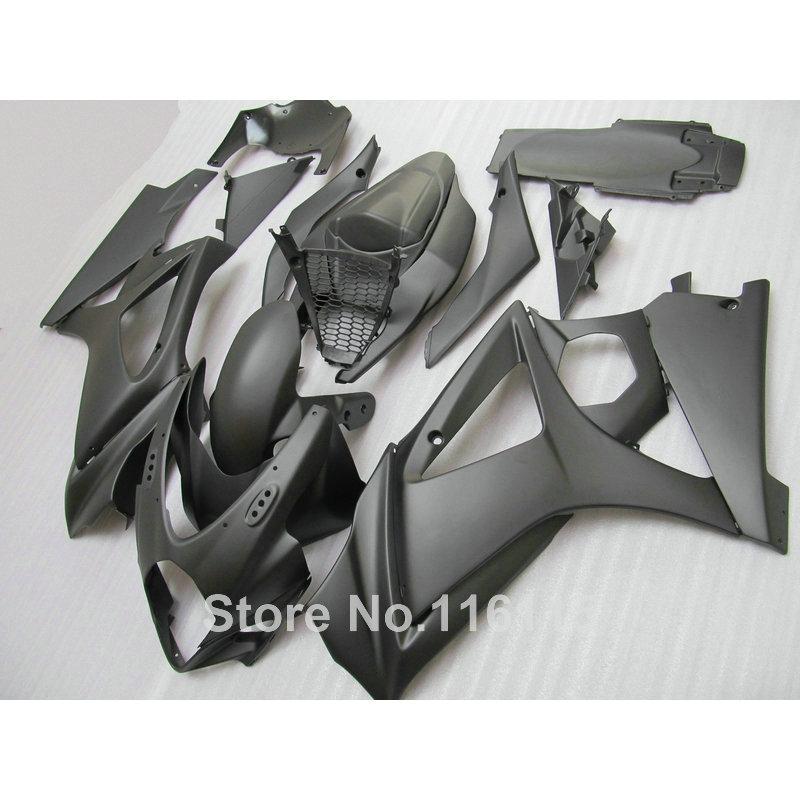 Бесплатная 7 подарки обтекатель комплект для SUZUKI GSXR 1000 K7 K8 2007 2008 Обтекатели 07 08 GSXR1000 все матовый черный ABS bodykits js55