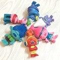 C & Z 6 шт./компл. аниме фильм мультфильм игрушки смешно волос Троллей Джеймс Джастин Энн фигурку коллекционные игрушки куклы наборы