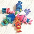 C & Z 6 unids/set película de anime de dibujos animados juguete divertido pelo Trolls James Justin Anne figura de acción de colección muñecas de juguete conjuntos