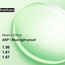 Asferyczne blokujące niebieskie światło okulary na receptę soczewki ochrona przed promieniowaniem ochrona uv przed promieniowaniem