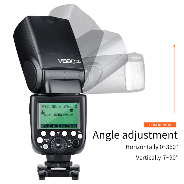 Godox VING V860II Lithium battery Flash GN60 HSS 1/8000s TTL Speedlite Flash +X1T Trigger For Canon Nikon Sony Olympus Fujifilm