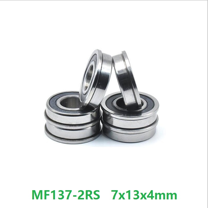 4x10x4 mm 10 PCS MR104-2RS Rubber Sealed Ball Bearing Bearings BLACK 4*10*4