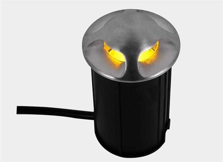 água LED Inground Recesso Lâmpadas 3 w LEVOU Holofotes Subterrâneo