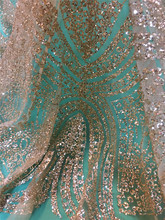 2017 Glitter Sequins Tulle Lace Wedding Dress Fabric French African Laces High Quality African Net Lace Fabric