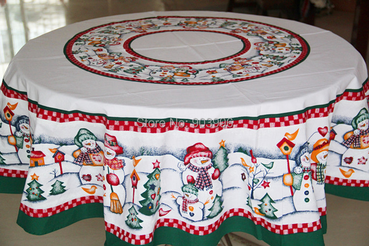 Aliexpress.com : Buy Free Shipping Round 152cm Christmas Snowman Fabric Tablecloth  Round Tablecloth Continental From Reliable Round Tablecloth Suppliers On ...