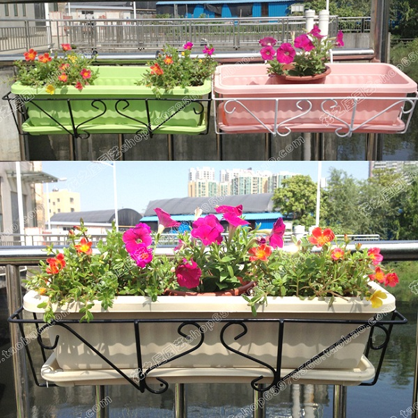 Plastic Flower Pot Extra Large Planters Balcony Kitchen Pallet Rectangle Balcony Flower Set Sets Set Spinnerflower Dinner Set Aliexpress