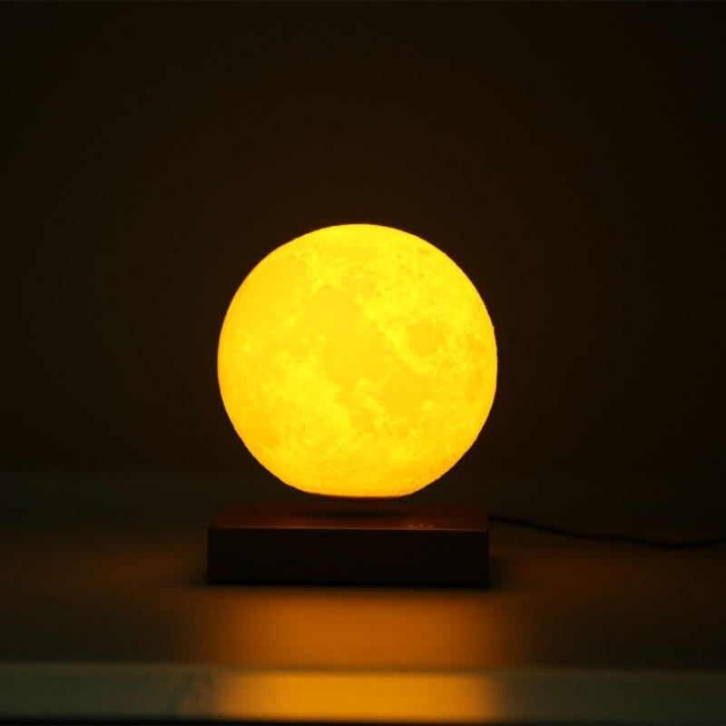 15 см 3D луна лампа магнитная левитация плавающий сенсорный светодиодный ночник для детей Дети декоративная настольная лампа прикроватная С...