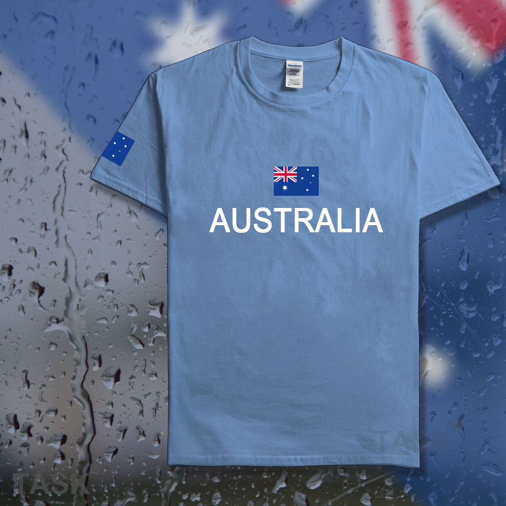 Design your own t-shirt in australia - Commonwealth Of Australia T Shirt Men Aussie T Shirts Cotton Nation Team Country Fans Streetwear