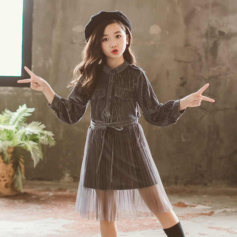 corduroy shirts dress big girls fall sets autumn girls clothing set 12 years 14 10 8 long sleeve dresses mesh skirts 2 pcs suits 2018 spring girls clothing sets baby teenage kids girls clothes denim coats skirts long sleeve suits outwear 8 10 12 14 years
