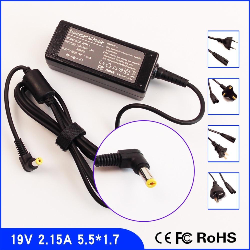 19 V 2.15A Laptop Ac Adaptateur Chargeur/Alimentation + Cordon Pour Acer Aspire One 751 521 522 533 725 D265 AO522 D255e NAV50