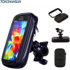 Image 3 - Motorcycle Phone Holder Support Telephone Mobile Stand for Moto Support for HUAWEI Redmi 5x Universal Bike Holder Waterproof Bag