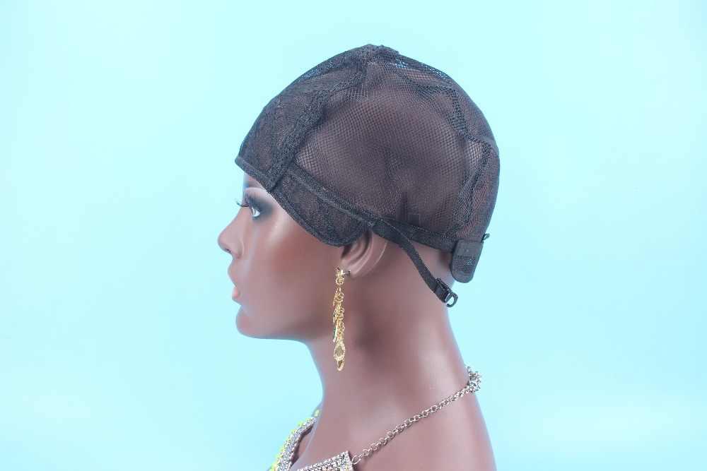 Rozmiar M czepek na perukę do wyrobu peruk 3 sztuk najwyższej jakości rozciągania regulowane paski z powrotem