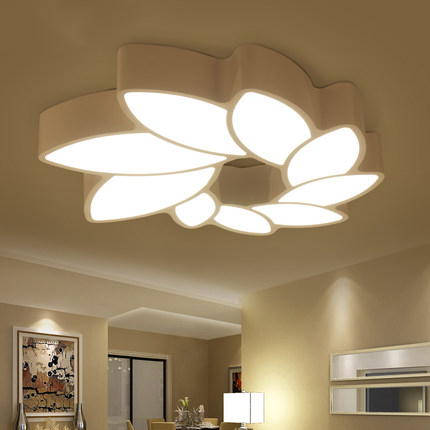 Современные Потолочные LED цветок в форме гостиная Светодиодная лампа потолка, творческа ...