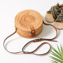 Round Mulit Style Straw Bag Handbags Women Summer Rattan Handmade Woven Beach Circle Bohemia Handbag