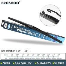 """BROSHOO Car Wiper Blade U hook 14""""16""""17""""18""""19""""20""""21""""22""""24""""26"""" Natural Rubber strip windscreen hybrid wipers Auto Car accessories"""