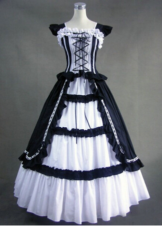 Livraison directe gothique Lolita robe princesse robe cosplay tailleur victorien robe taille S-2XL sur mesure costume