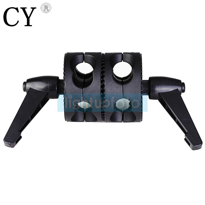 New arrive quality Universal Double wheel Light Stand Grip Clamp PSBA1D