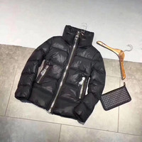 Winter Womens Thicker 90 White Goose Down Jacket Slim Zipper Turtleneck Outwear Black White Pink Fashion