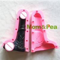 Mom Pea NEW MPB0041 Dick Shaped Silicone Mold Cake Decoration Fondant Cake 3D Dildo Mold Food