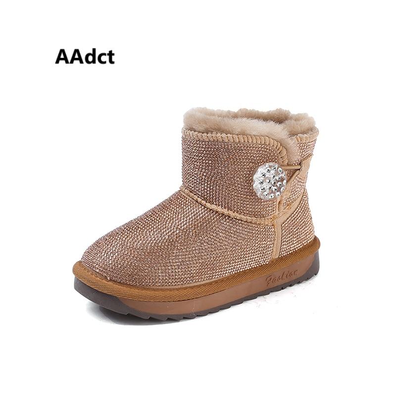AAdct Cotton snow boots for glitter girls New fashion children short boots 2018 Winter shinning kids boots aadct cotton warm children snow boots for glitter girls new fashion shinning short girls boots 2018 winter kids boots