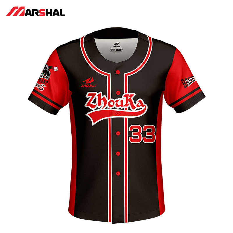 0db0fd09 ... Customized design for mens baseball jersey full sublimated sportswear training  shirts button down design on line ...