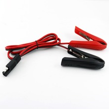 20x SAE Male Plug to Alligator Clips Solar Battery Adapter Extension Connector Cable Cord 3FT/1M 14AWG