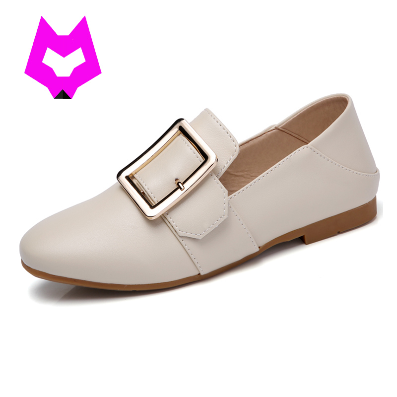 white shoes Loafers Lady Single Flat Shoes woman zapatos de mujer Tufli Tenis Luxury Brand Leather Shoes Ladies Casual Moccasins