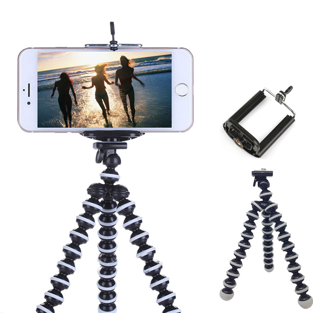 Octopus Mini Tripod Stand Mount For Mobile Phone Gopro Hero 7 6 5 4 3+ Session SJcam Xiaomi Yi 1 2 4K Action Camera Accessories(China)