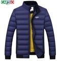 Cartelo napapijri hombres de la marca de moda de ocio de la chaqueta DELGADA chaqueta de los hombres cuello de la chaqueta de pato blanco de Los Hombres abajo escudo 9200