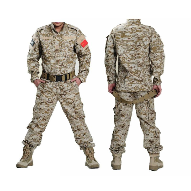 все цены на Army Military Uniform Tactical Shirt+Pants Camo Camouflage ACU Combat Uniform Airsoft Combat Hunting Men's Clothes Suit в интернете