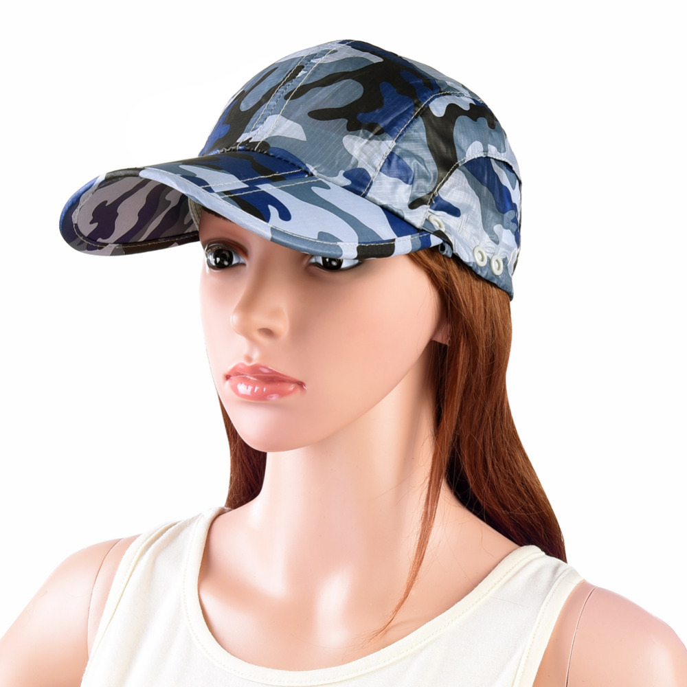 32e3f1d7c51 VBIGER Men Women Outdoor Sun Hat Camouflage Quick dry Summer Hat Foldable  Sunhat Wide Brim Visor Hat Cap with Neck Face Flap-in Sun Hats from Apparel  ...