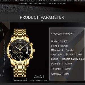 Image 2 - NIBOSI montre de Sport pour hommes, de marque de luxe, à Quartz, à Date automatique, étanche, bleu