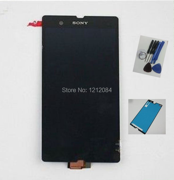 NEW for Sony Xperia Z L36H c6602 c6603 c6606 LCD display with Digitizer Touch Assembly+front adhesive+open tools+ free shipping