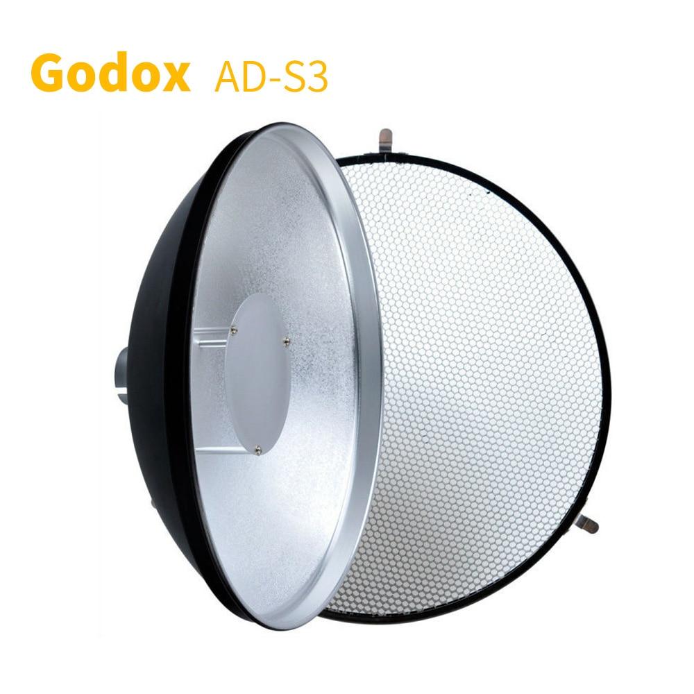 Godox AD-S3 plat de beauté + avec grille en nid d'abeille tissu doux léger pour WITSTRO AD180 AD360 Studio accessoires de lumière Flash