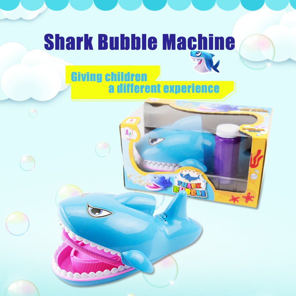 Automatic Bubble Machine Shark Toys Party Summer Outdoor Toy Bath Toys For Kids Bubble Sets Funny Gadgets toys for children