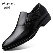 Whoholl Black Formal Shoes Men Loafers Wedding Dress Patent Leather Oxford for Chaussures Hommes En Cuir