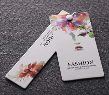 White Paper Cardboard Hang tags and Labels Factory Custom Printing Name Logo Vintage Luxury Hangtags