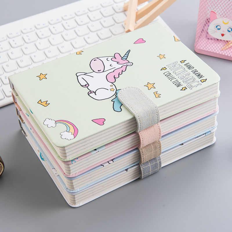 Kawaii Cute Unicorn Pattern Hardcover School Student Korean Bullet